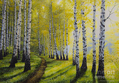 Vibrant Painting - Path To Autumn by Veikko Suikkanen