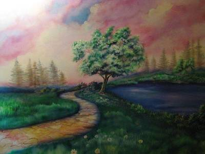 Painting - Path To Glory Panel 1 by Kendra Sorum