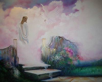 Painting - Path To Glory Panel 4 by Kendra Sorum