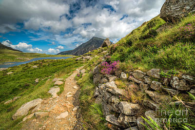 North Wales Digital Art - Path To Lake Idwal by Adrian Evans