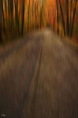 Autumn Abstract Photograph - Path To Life by Lourry Legarde