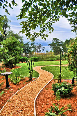 Garden Path To Wild Marsh Art Print