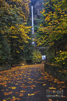 Multnomah Falls Waterfall Photograph - Path To Multnomah Falls by Mark Kiver