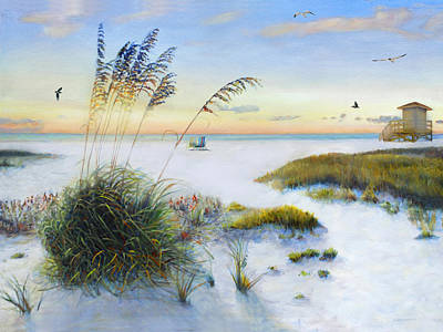 Sea Grass Painting - Path To Siesta Key Beach by Shawn McLoughlin