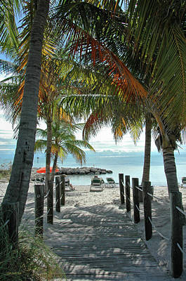 Path To Smathers Beach - Key West Print by Frank Mari