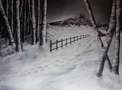 Path To Solitude Art Print by Valorie Cross