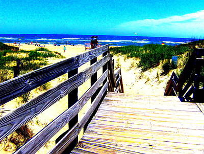 Path To The Beach Art Print by Scott Hamilton