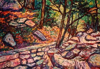 Painting - Path To The Cascades by Kendall Kessler