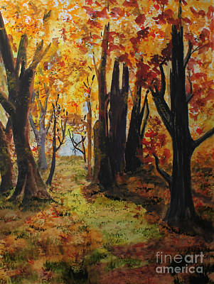 Jack Brauer Painting - Path To The Edge by Jack G  Brauer