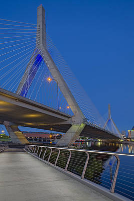 Photograph - Path To The Leonard P. Zakim Bridge by Susan Candelario
