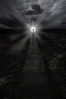 Path To The Lightouse Print by Jaroslaw Blaminsky