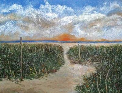 North Fork Painting - Path To The Sound  by Helen Wendle