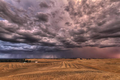 Dark Clouds Photograph - Path To The Storm by Mark Kiver