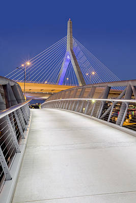 Photograph - Path To The Zakim Bridge by Susan Candelario