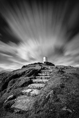 Path To Twr Mawr Lighthouse Print by Dave Bowman
