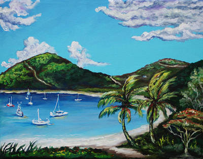 Caribbean Painting - Path To White Bay  by Eve  Wheeler