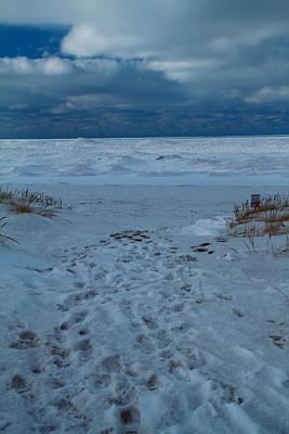 Path Toward The Winter Beach Art Print