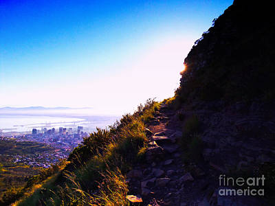 Path Up Lions Head Cape Town South Africa Original