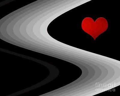 Digital Art - Path With Heart by Kristi Kruse