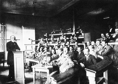 Pathology Lecture By Virchow Art Print