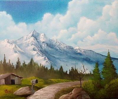 Painting - Pathway By The Mountain by Chad Marshall