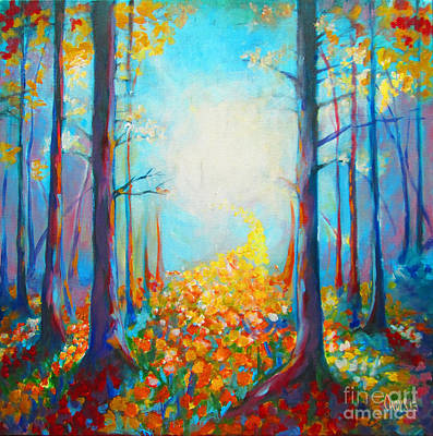 Nature Painting - Pathway by Tamer and Cindy Elsharouni