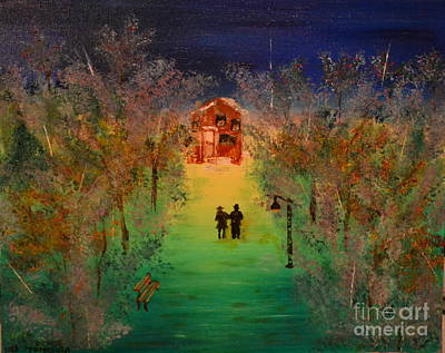 Art Print featuring the painting Pathway Home by Denise Tomasura