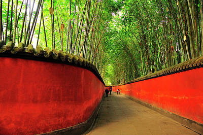 Photograph - Pathway In Temple Of Marquis Wu With by Wibowo Rusli