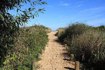 Pathway Leading To Omaha Beach Art Print