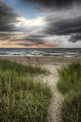 Photograph - Pathway Ocean Sky by Alan Raasch
