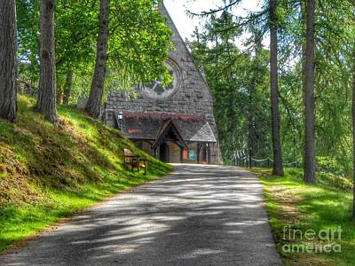 Pathway To Crathie Church Art Print