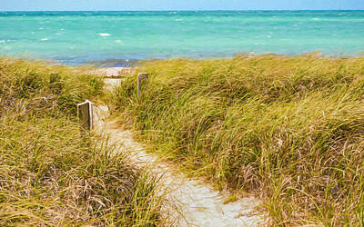 Atlantic Photograph - Pathway To Sandspur Beach by John M Bailey