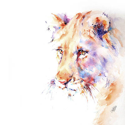 Painting - Patience . . . Lion by Stephie Butler