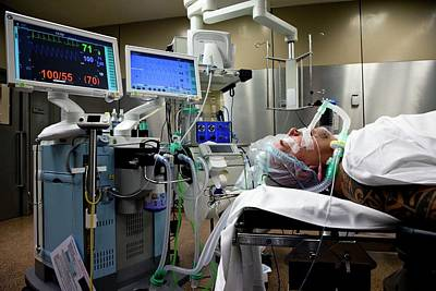 Patient Prepared For Surgery Art Print