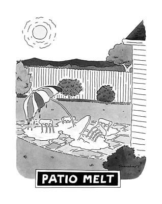 Furniture Drawing - Patio Melt by Danny Shanaha