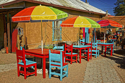 Photograph - Patio Old Town Albuquerque New Mexico Dsc08203 by Greg Kluempers