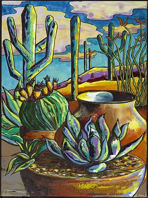 Painting - Patio Pots by Alexandria Winslow