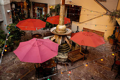 Photograph - Patio Unbrellas by Melinda Ledsome