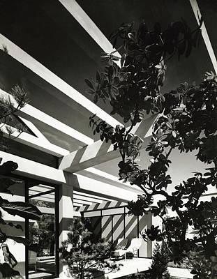 Cod Photograph - Patio With Pergola by Robert M. Damora