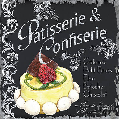 Paris Shops Painting - Patisserie And Confiserie by Debbie DeWitt
