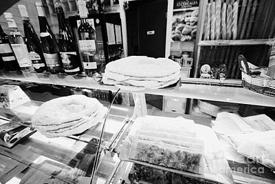 Boulangerie Photograph - Patisserie Boulangerie With Local Catalan Speciality Pastries Wine Bread In Mont-louis Pyrenees-orie by Joe Fox