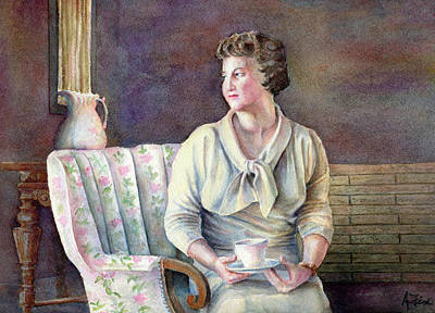 Art Print featuring the painting Patricia by Arthur Fix