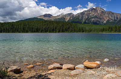 Photograph - Patricia Lake And Pyramid Mountain by Charles Kozierok
