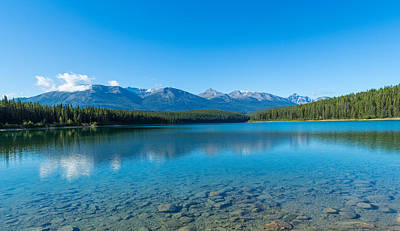 Patricia Lake With Mountains Art Print by Panoramic Images