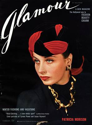 Nineteenth Century Photograph - Patricia Morison On The Cover Of Glamour by Artist Unknown