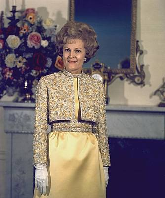 Inaugural Gown Photograph - Patricia Nixon Models Her Harvey Berin by Everett