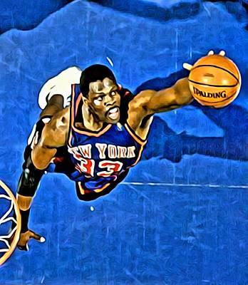 Knicks Painting - Patrick Ewing by Florian Rodarte
