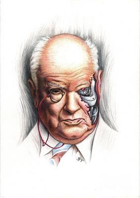 Drawing - Patrick Moore Terminator by Tim Thorpe