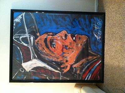Colorado Avalanche Painting - Patrick Roy  by Denny Dent