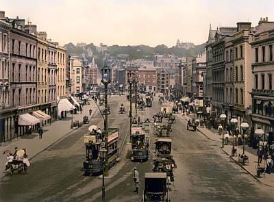 Patrick Street In Cork Ireland - 1900 Art Print